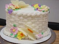 Basket Weave Spring Cake
