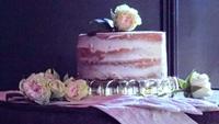 Naked Vanilla Cake